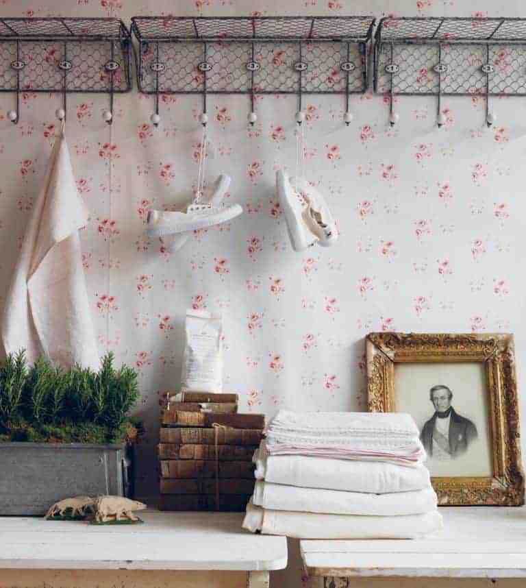 Love this faded floral wallpaper by Cabbages & Roses. Click through to discover more faded floral fabric designs you'll love