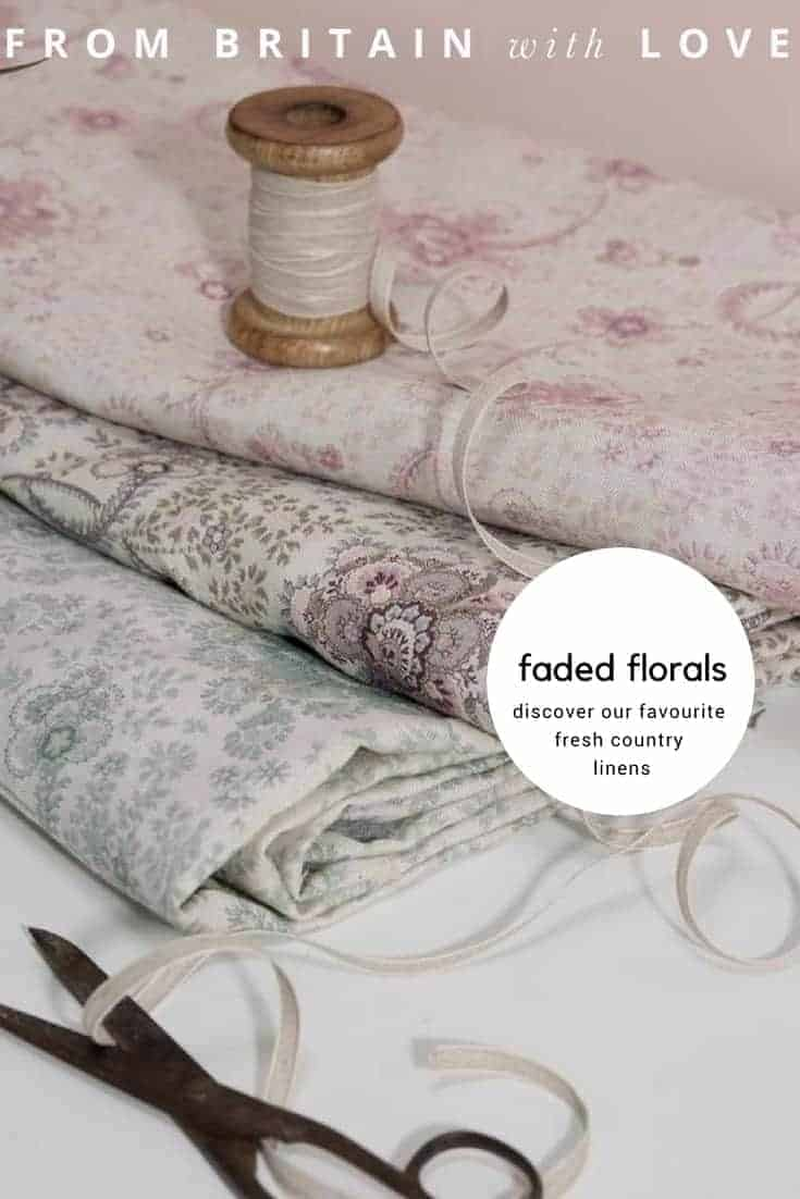 love faded floral fabrics and linens. Click through to discover the most beautiful faded florals around...