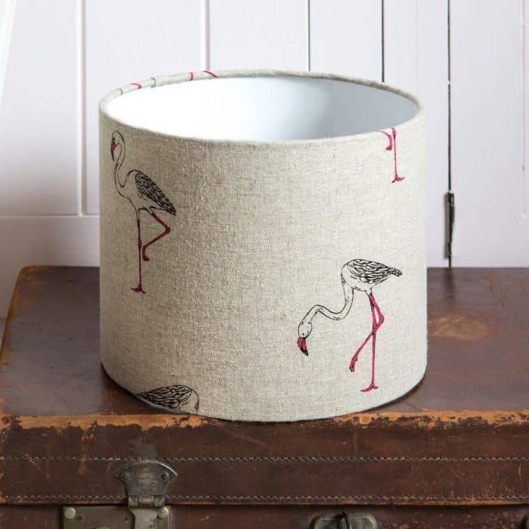 love this peony and sage flamingo linen lampshade shadelined linen lampshade by peony and sage