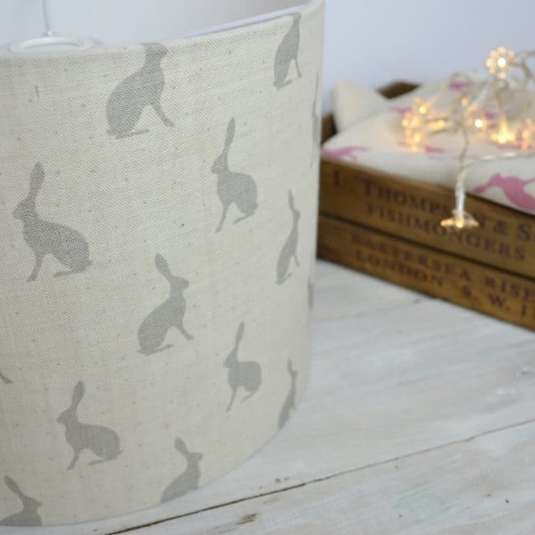 love this peony and sage grey hares linen lampshade shadelined linen lampshade by peony and sage