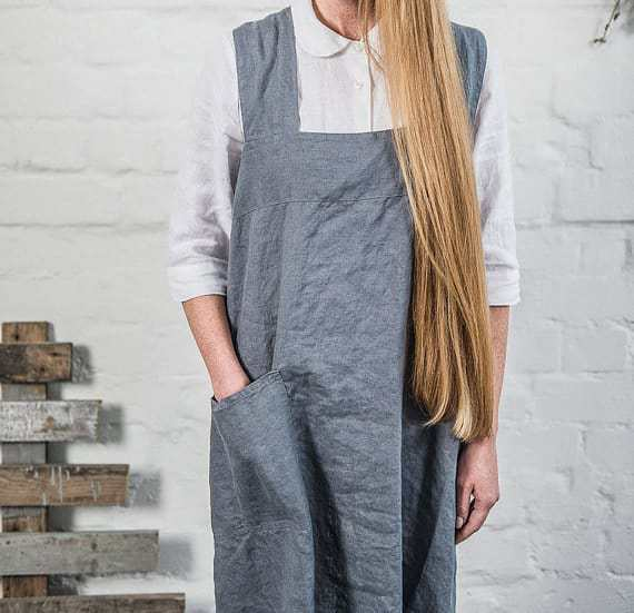 3c9ee1260f ... love this japanese cross back pinafore apron hand made for Cotswolds  based Swedish House at Home