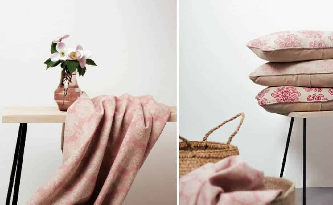 olive and daisy pink linen