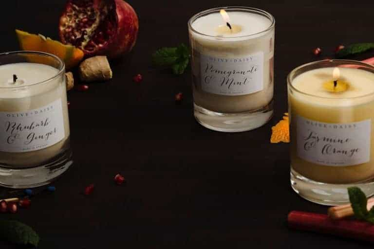love this olive and daisy candle