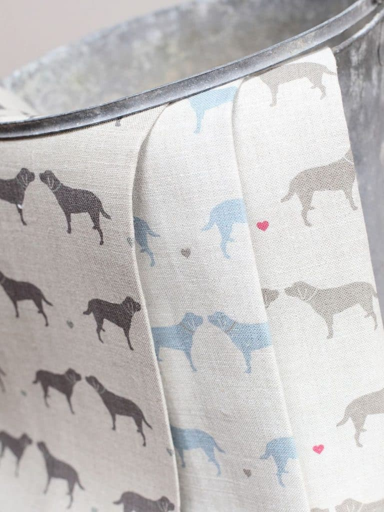 love this gemma labrador print linen fabric by olive and daisy. Click through to discover more fabric designs you'll love
