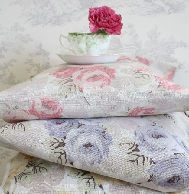 love this pink and lilac faded floral by Sarah Hardaker. Click through to discover more faded floral fabric designs you'll love
