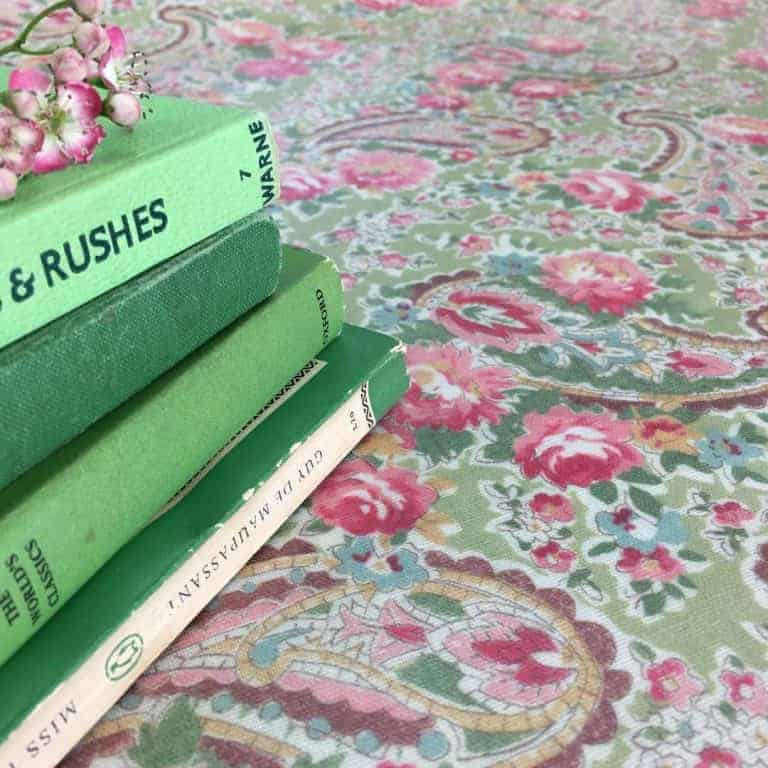 love this pink and green paisley faded floral fabric by Sarah Hardaker. Click through to discover more faded floral fabric designs you'll love