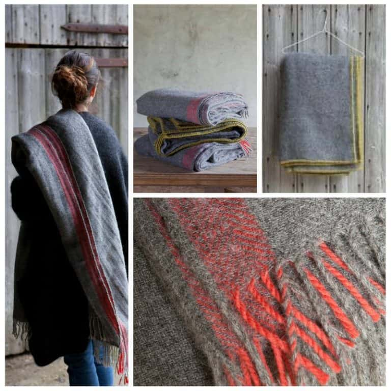 love the seasonal natural blankets throws and wraps at Trill Farm shop