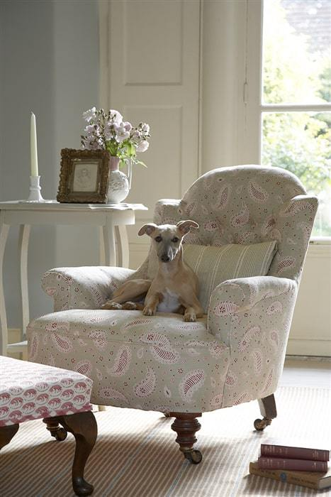 love this faded floral paisley covered chair by vanessa arbuthnott. Click through for more faded floral fabric ideas you'l love