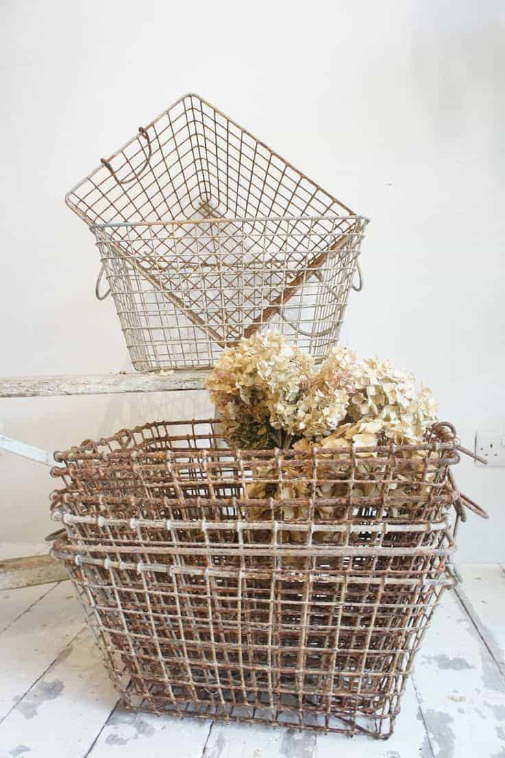 belle epoque french wire baskets