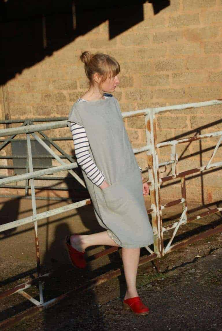 love this simple slip dress in grey linen by Teresa Green. Click through for more linen dress ideas you'll love