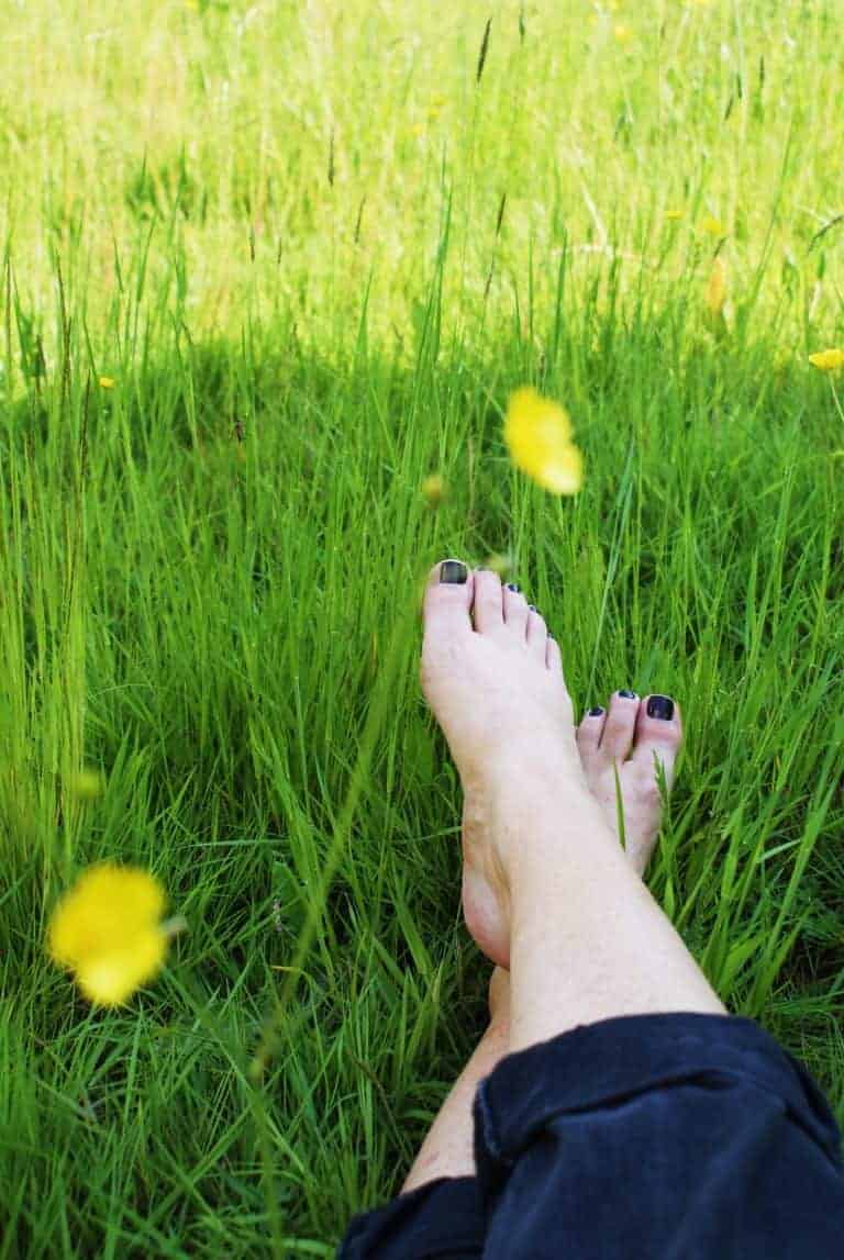 loved going barefoot in the buttercups and wildflower meadow. Click through for more beautiful images of tiny homes eco holidays on the isle of wight