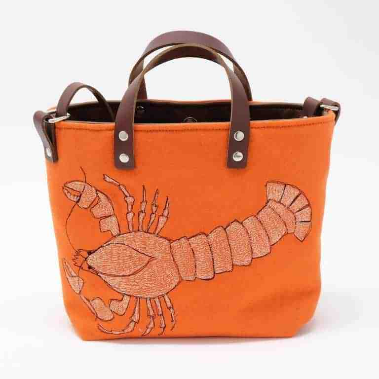 poppy treffry lobster bag orange