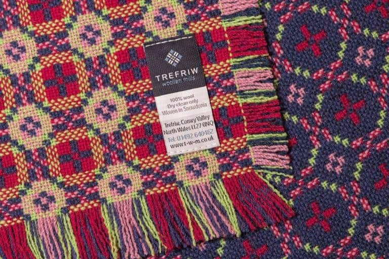love this red, pink, lime green and purple welsh blanket by trefriw woollen mills welsh blanket