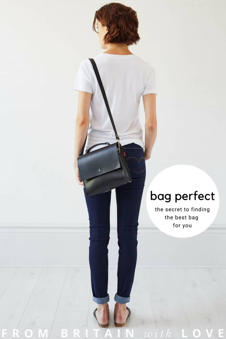 how to find the perfect bag for your lifestyle and your body shape and your style. We ask our favourite bag makers to share their thoughts and a few of their favourites. This is the black leather Lucy cross body bag by Grace Gordon London. Click through for more perfect bag ideas you'll love