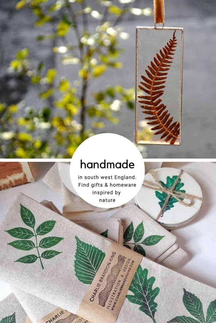 love these nature inspired leaf clay coasters and pressed wild flower glass frames all made in south west england for These Two Hands. Click through for founder, Naomi's other summer picks