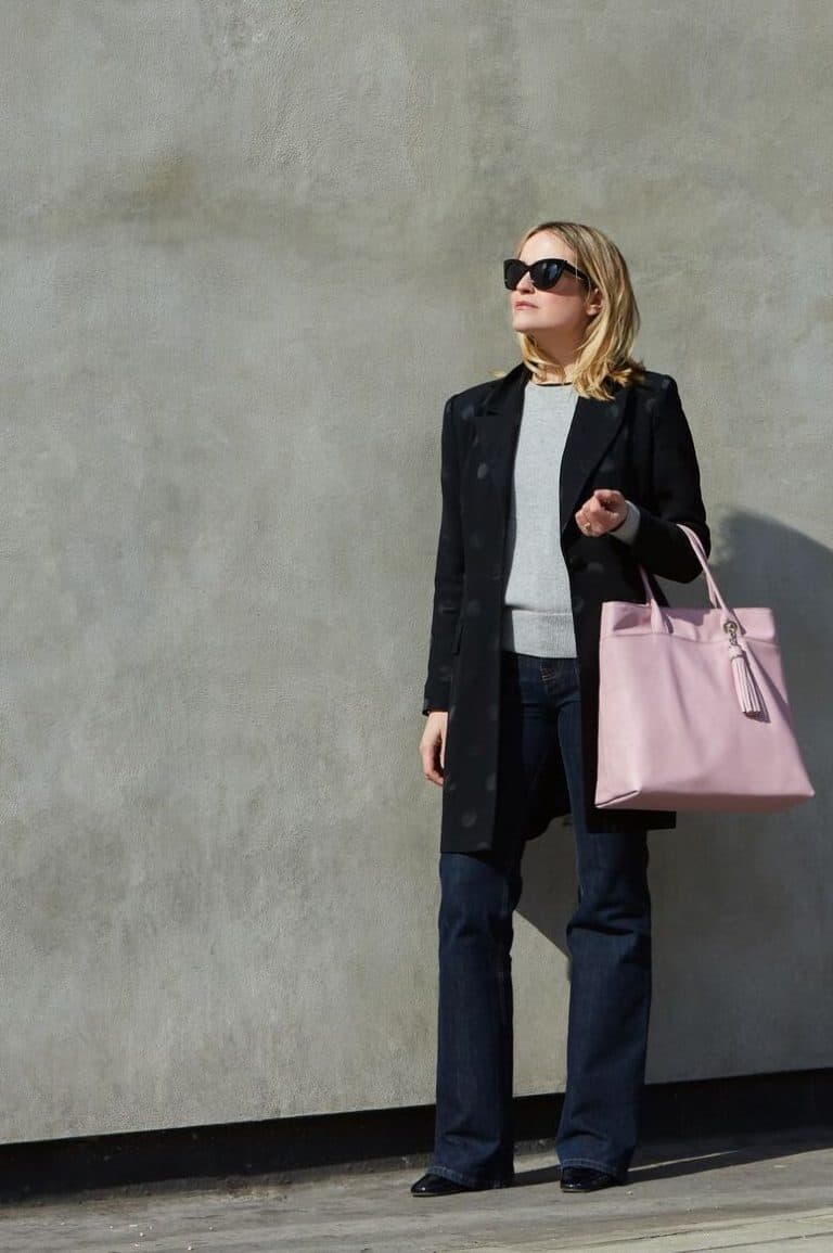large pink leather tote bag sarah haran