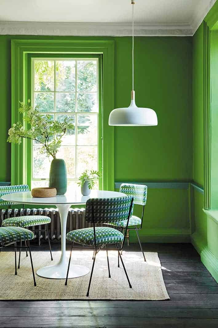 How To Decorate With Green Paint Colours From Britain
