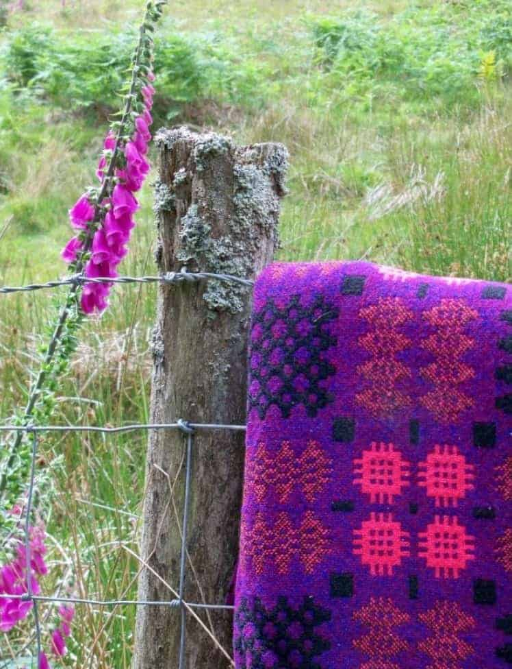 tapestry wool bedcover purple pink from the jane beck vintage tapestry throws shop