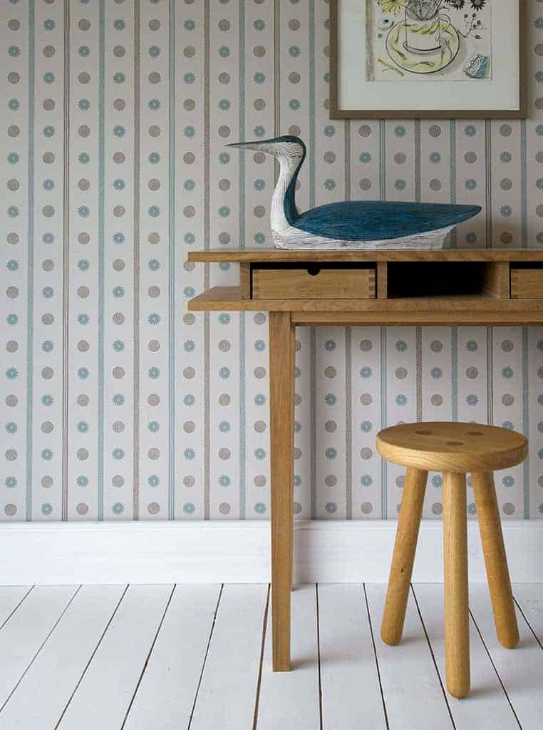 love this grey blue angie lewin spey stripe wallpaper for st judes perfect wallpaper for coastal living room