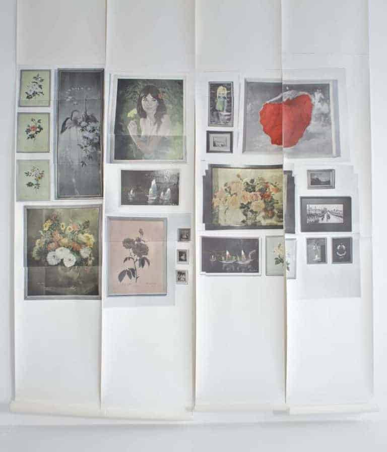 love this picture wall feature wall wallpaper by Deborah Bowness - create a gallery wall in an individual way. Click through for more wallpaper ideas for bedrooms or living rooms you'll love