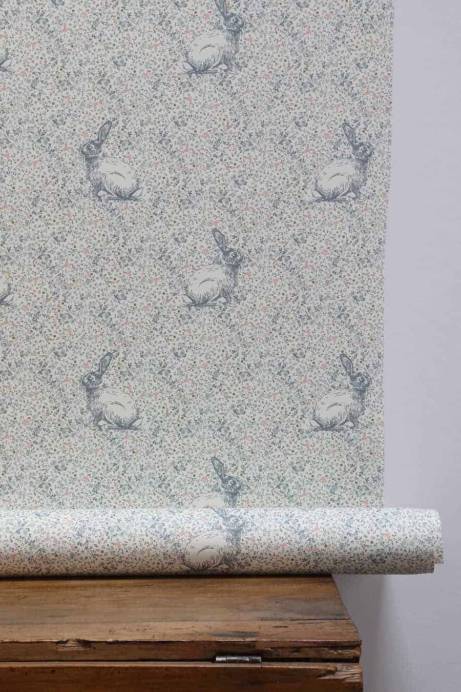 love this bunny rabbit floral little girl wallpaper by peony and sage the perfect pretty floral country little girl bedroom wallpaper made in England. Click through for more beautiful wallpaper ideas you'll love to try in your home