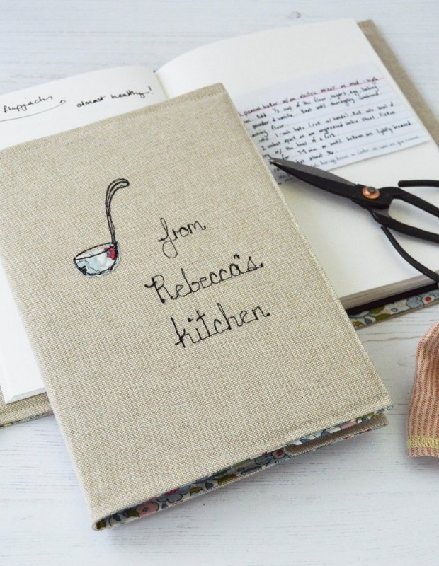 embroidered-linen-recipe-book-handmade-poshyarns