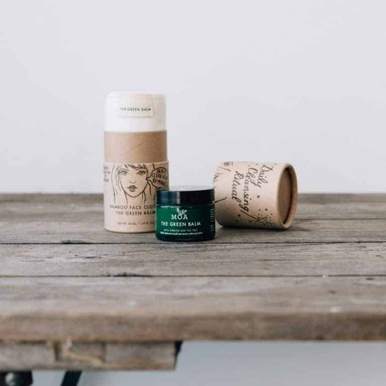 love this multi purpose green balm and daily ritual cleanser by MOA organic apothecary. Click through for more zero waste and plastic free living ideas you'll love