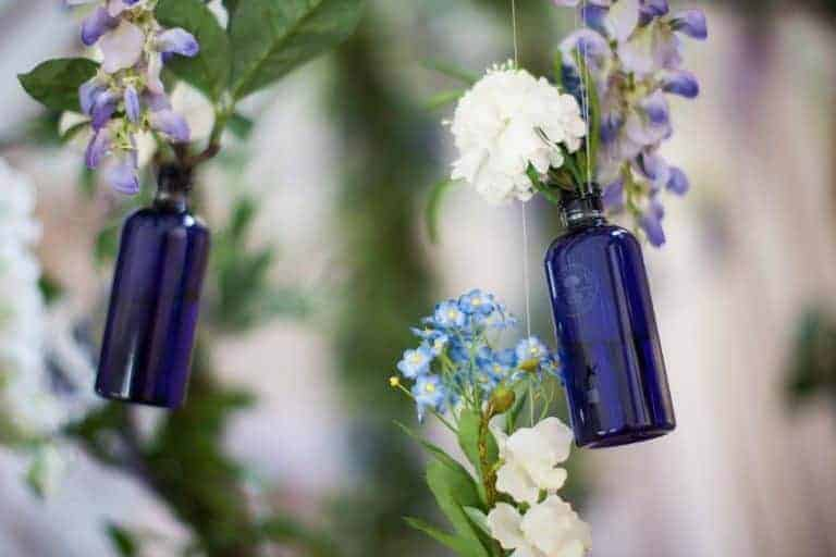 love the blue glass bottles neals yard shower gel comes in. So pretty there are lots of upcycling ideas. Click through for more zero waste and plastic free beauty and bathroom ideas you'll love