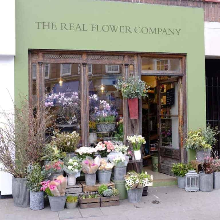 love the Real Flower Company shop in Chelsea Green, London. Click through to discover more local loves and inspirations of Real Flower Company founder Rosebie Morton