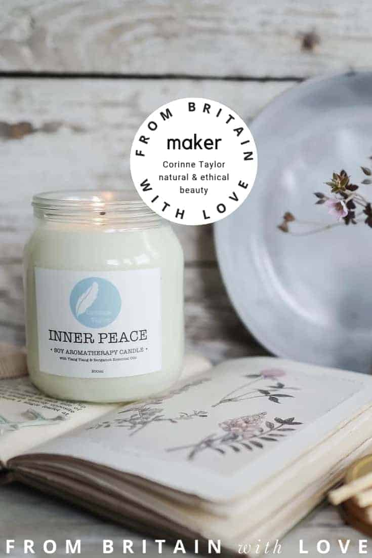 love natural ethical beauty skincare and candles by corinne taylor. Click through to discover more about Corinne Taylor and other hand-picked UK ethical makers
