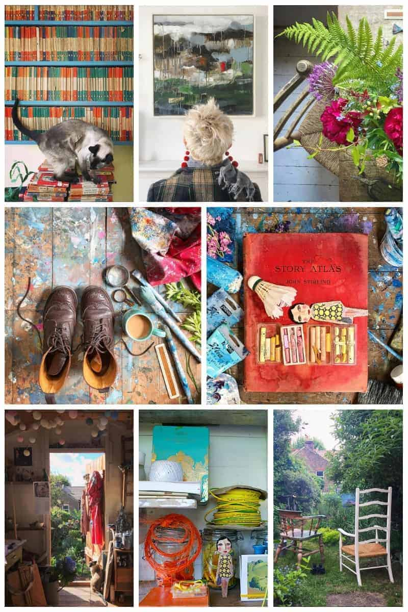 love this moodboard of images from instagram @5ftinf by artist philippa stanton. Click through to see more wonderful images as well as a glimpse behind the scenes at the launch of Philippa's new book Conscious Creativity