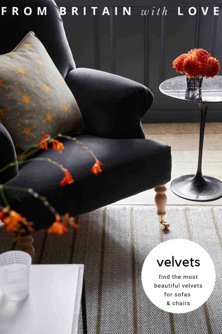 love this charcoal velvet armchair vanessa arbuthnott. Click through for more velvet sofa velvet armchair and other velvet ideas you'll love