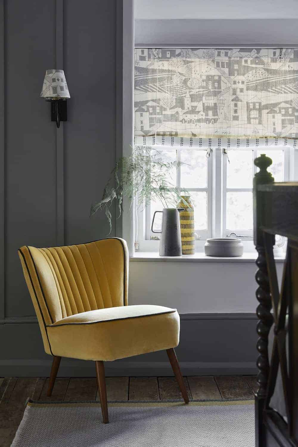 love this yellow velvet chair by Vanessa Arbuthnott. Click through for more velvet sofa velvet armchair and other velvet ideas you'll love.