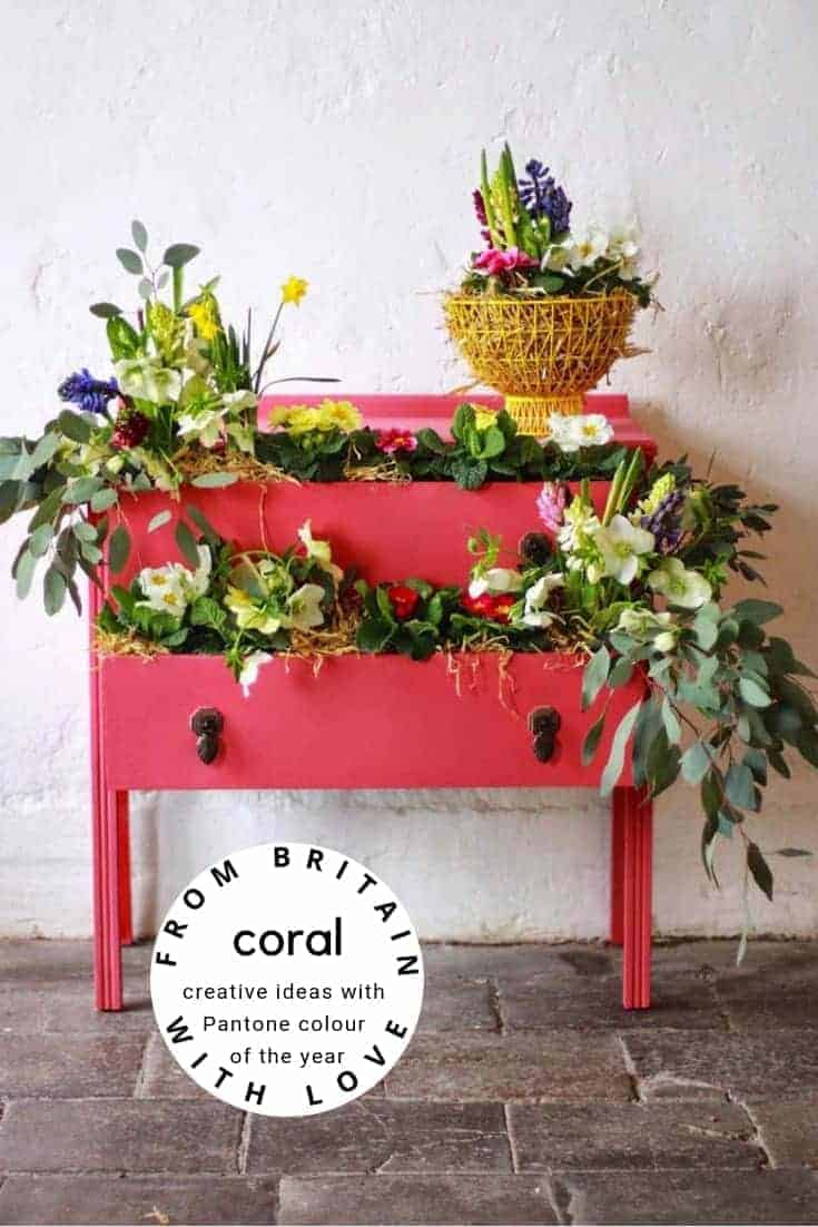 how to use living coral pantone colour of the year. click through to find out more and to see other creative ideas for bringing a beautiful splash of coral - pantone colour of the year - into your life