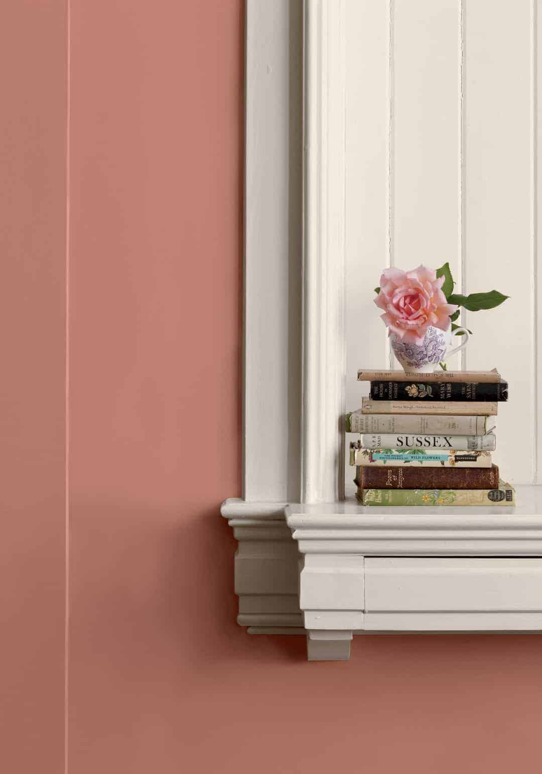 this soft coral crush paint shade by valspar is a way to bring pantone colour of the year Living Coral into your home - click through for more details and lots of beautiful creative ways to bring a splash of coral into your home