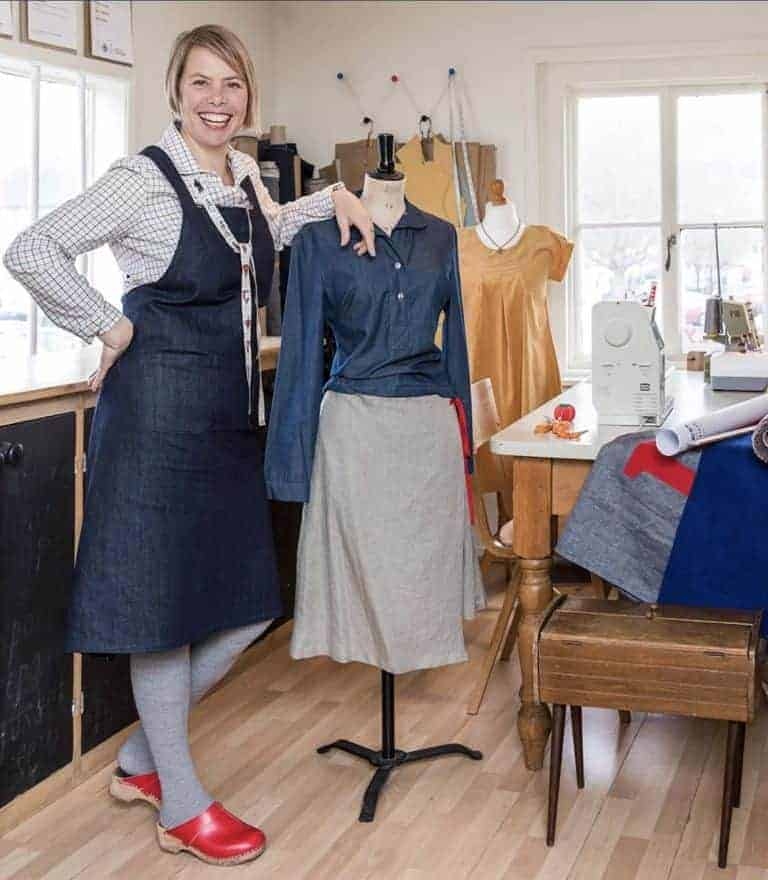 meet Diana Uprichard founder of dolly clothing handmade sustainable clothing and sewing classes uk #ethicalfashion #sustainablefashion #slowfashion #madeinbritain #handmadeinbritain #frombritainwithlove #handmade #learntosew #sewingclasses