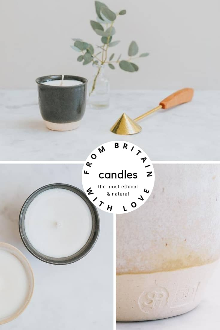 ethical natural handmade aromatherapy natural rapeseed candle hand poured for Aerende. Click through to discover other special handmade natural soy and zero waste refillable candles you'll love