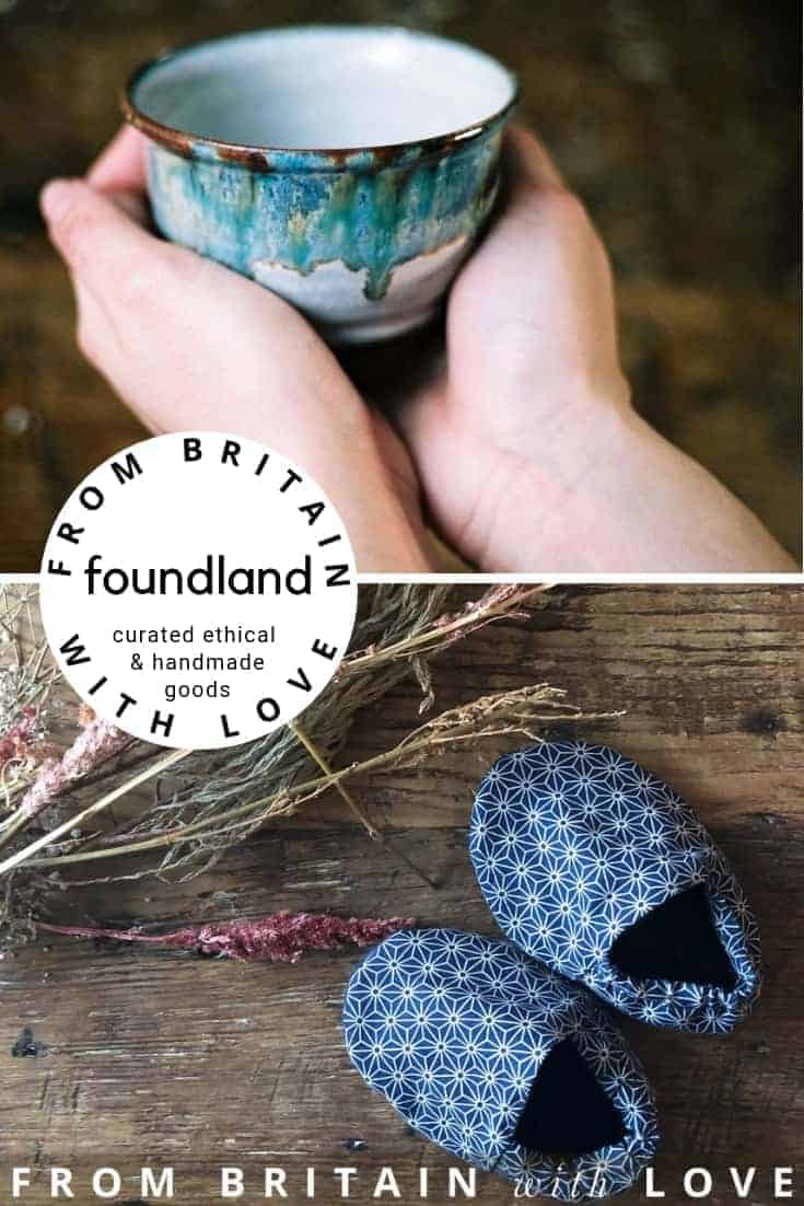 Love Foundland - online shop selling a range of wood fired ceramics, reclaimed wooden chopping boards, letterpress stationery, recycled glassware, Modernist bags, handmade slippers, many ethically made in Britain, some made in Japan. Click through to get all the info you need to discover Foundland ethical and handmade gifts and homeware made in Britain, made in Japan and beyond. #madeinbritain #madeinjapan #ethical #handmade #eco