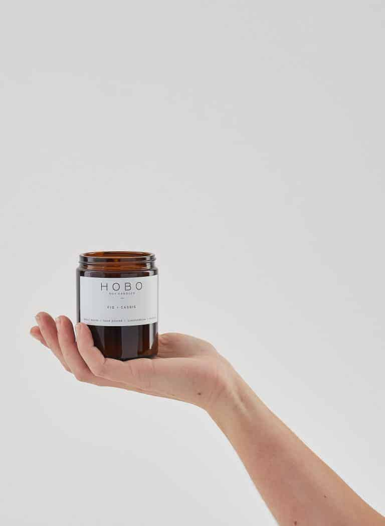 love this hand poured sustainable soy wax candle cassis and fig by Hobo from Grace Gordon. Click through to discover other special handmade natural soy and zero waste refillable candles you'll love