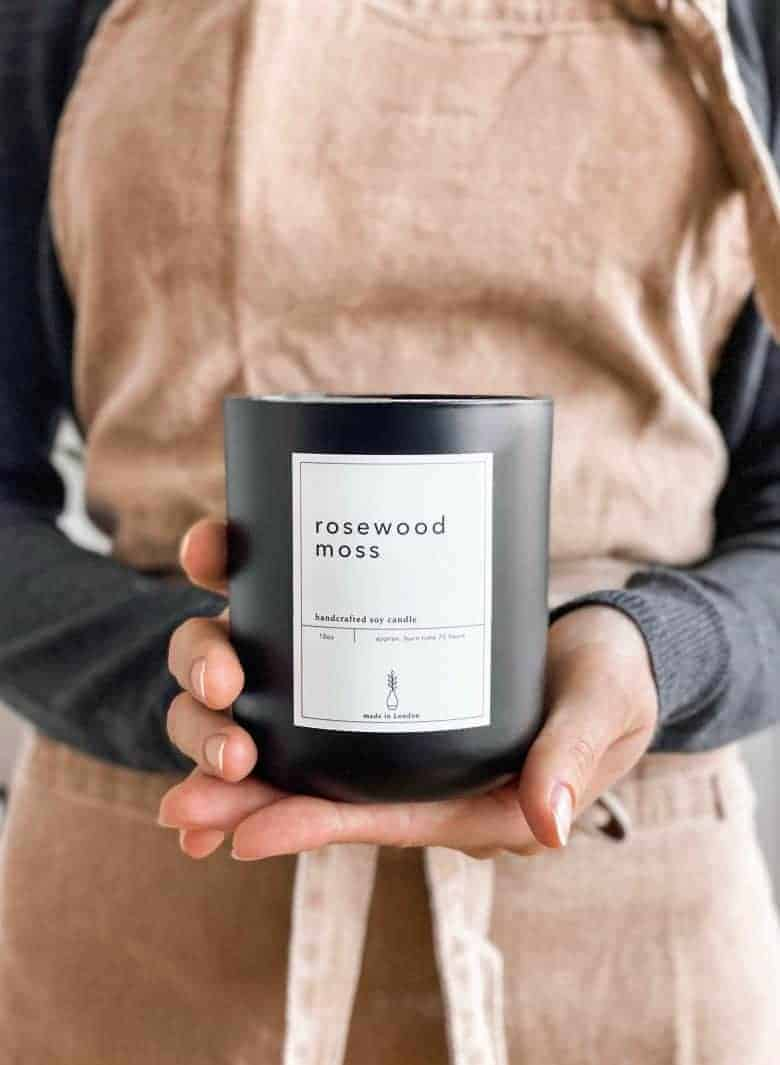 rosewood handmade soy candle #handmade #soy #candle #frombritainwithlove