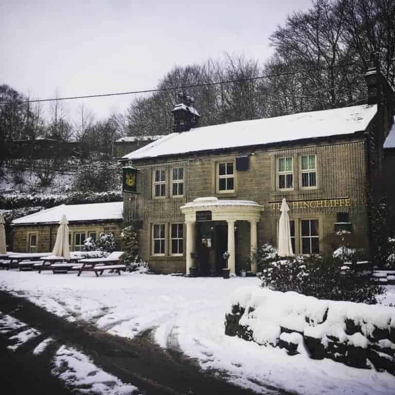 Hinchcliffe Arms Hebden Bridge in bronte country yorkshire - one of the simple pleasures and local loves of Sarah Statham, founder of Simply by Arrangement flowers in Hebden Bridge. Click through to discover Sarah's other wonderful local loves #haworth #yorkshire #brontecountry #frombritainwithlove