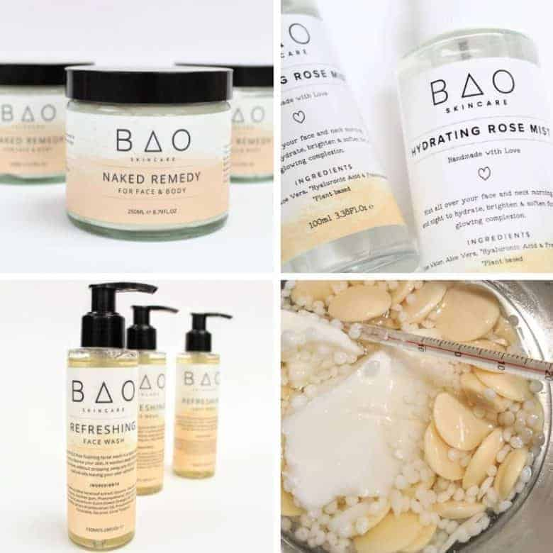 BAO natural skincare including healing pink himalayan bath salts, skin balms, body scrubs and skincare using pure, natural and organic ingredients. Save £20 on the price of buying all these wonderful beauty products separately. Click through for more details and for other ethical gifts made in the UK that you'll love #naturalskincare #ethicalskincare