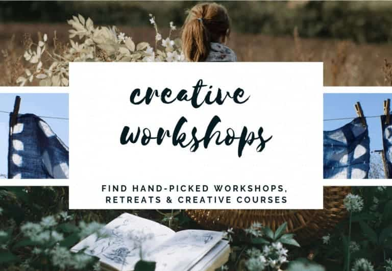source creative workshops in the UK as well as retreats and creative courses and ecourses and online courses all by hand-picked UK creatives and course providers