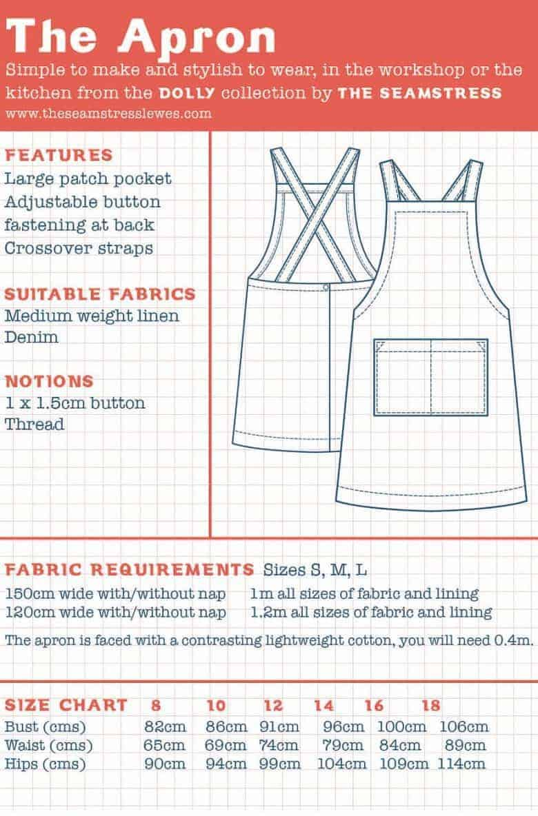 dolly apron dress sewing pattern
