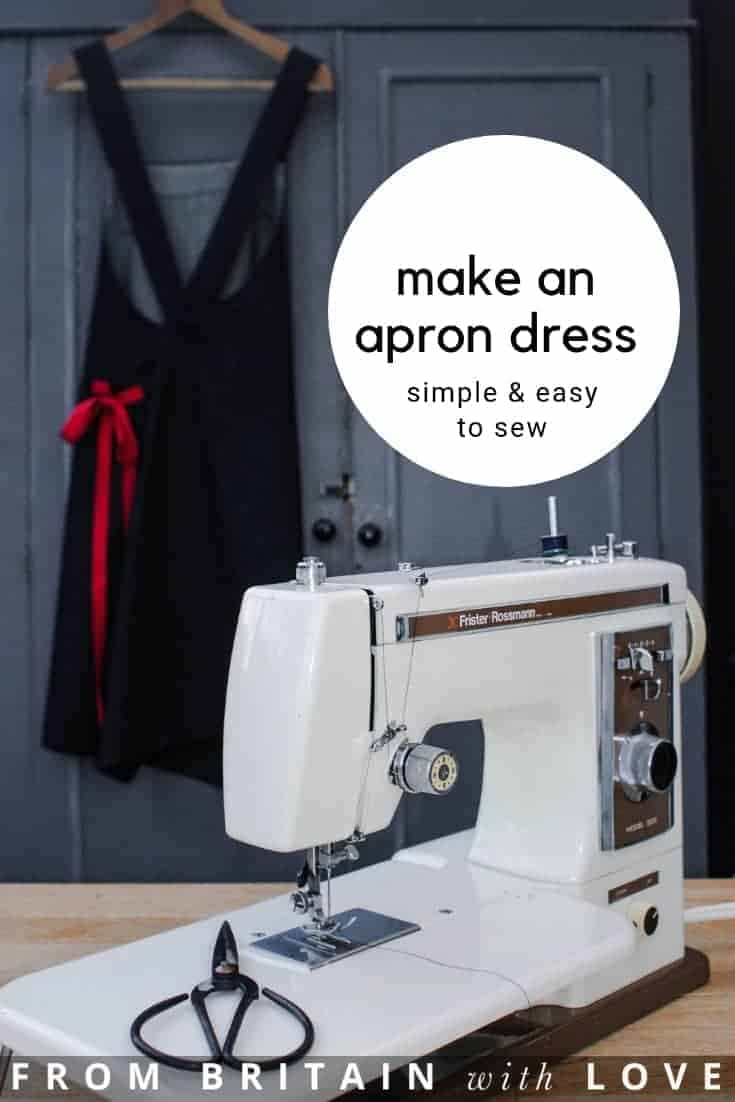 learn how to make a cross back apron dress with simple step by step DIY pattern tutorial - join me on the sewing workshop with Dolly in Lewes where I share my step by step images and tips from Diana Uprichard, founder of Dolly - handmade clothes, patterns and workshops to help real women make and wear clothes that feel good and will last #aprondress #crossback #howtosew #pattern #sewingworkshop #japanesecrossbackapron #frombritainwithlove #sewingtutorials #learntosew #sustainablefashion