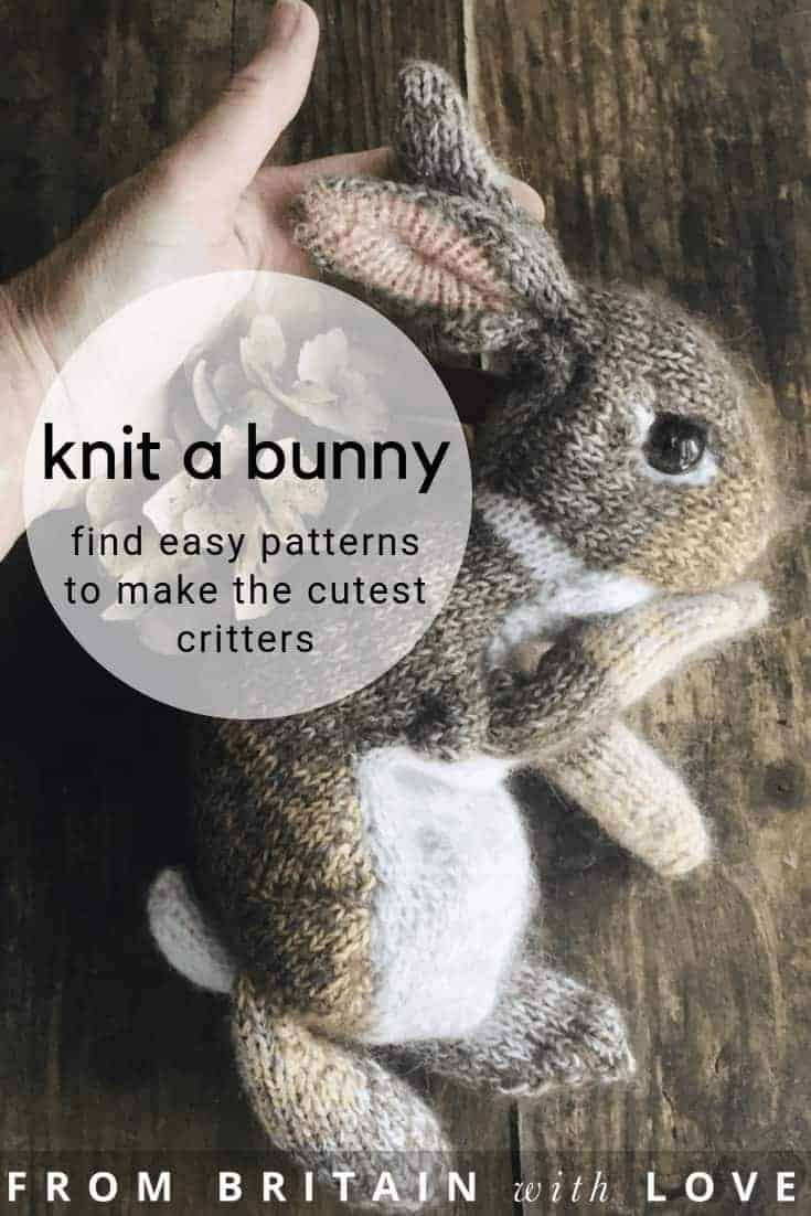 love this dot pebbles rabbit knitting pattern to hand knit the cutest lifelike bunny rabbits and other cute woodland critters including foxes, deer, dormice, ducks, birds and more. Simply the most adorable baby animal knitting patterns you'll ever find, with helpful step by step DIY tutorial videos from Claire Garland herself to help you. #knittedbunny #howtoknitarabbit #knittedrabbit #knittingpatterns #woodlandanimals #frombritainwithlove #dotpebble #clairegarland #knittingideas