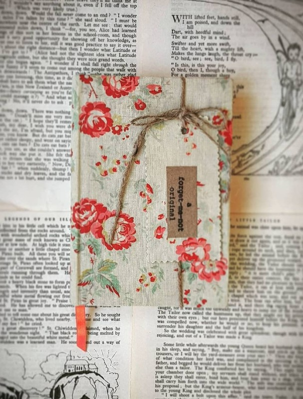 covered-vintage-books-notebooks.-floral