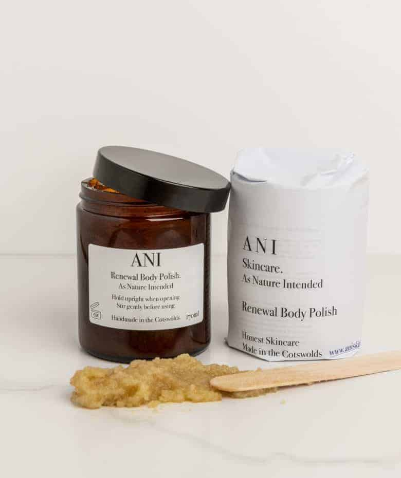 love this natural body polish handmade in the Cotswolds by ANI Skincare ethical beauty made in Britain using organic pure ingredients that are kind to your skin and the environment. Click through to find our more and to discover other wonderful ethical beauty and natural handmade skincare made in the UK #ethicalbeauty #naturalbeauty #ethicalskincare #ethicalbeauty #madeinbritain #frombritainwithlove #handmade #ecofriendly #natural