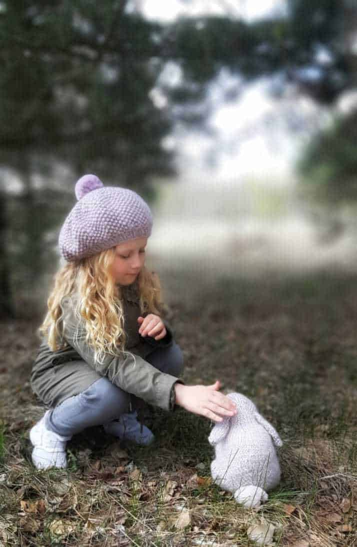love this photo by Katrin Strukova and it's her knitted up version of Claire's free baby bunny rabbit knitting pattern - why don't you share yours with me too? #knitting #pattern #free #bunny #rabbit