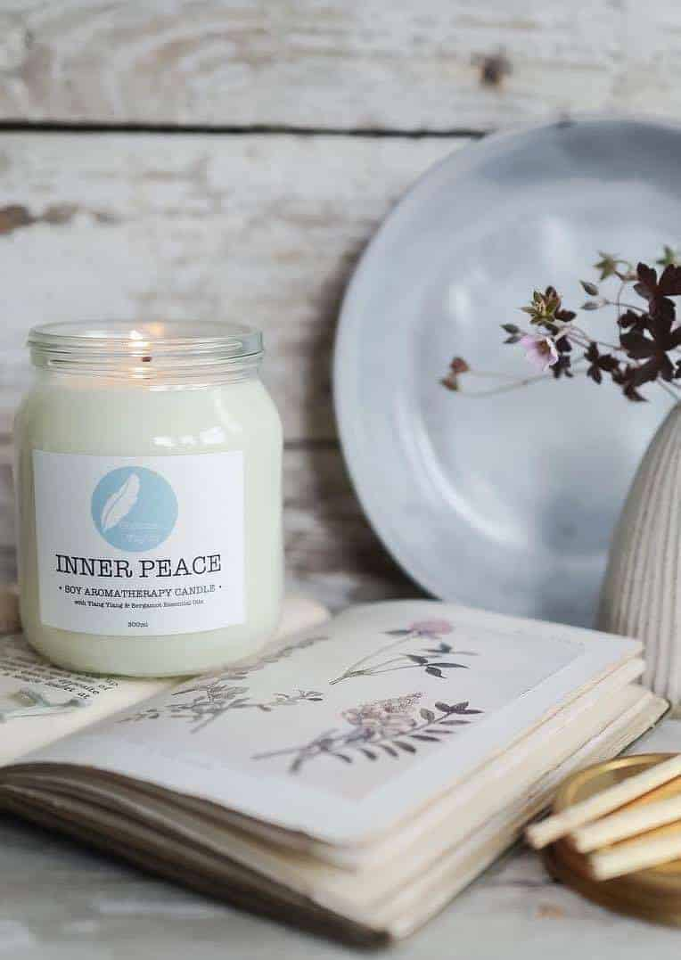 love this inner peace aromatherapy candle by corinne taylor ethical skincare handmade in Brighton using organic natural ingredients, essential oils and vegan, cruelty free and eco friendly #ethicalbeauty #organic #handmade #frombritainwithlove #ethicalskincare #ecofriendly #madeinbritain #aromatherapy #candle